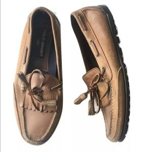 Vtg POLO sport Loafers dress shoes brown